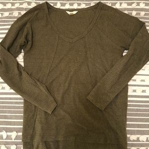 Olive Green Slouchy long sleeve